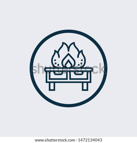 Kitchen furniture vector icon on white background. Kitchen furniture icon in modern design style. Kitchen furniture vector icon popular and simple flat symbol for web and graphic, mobile app