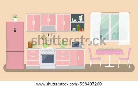 Kitchen Activity Illustration - Download Free Vector Art, Stock ...