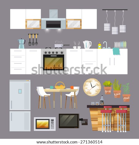 kitchen interior and furniture