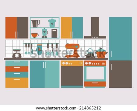 kitchen interior card