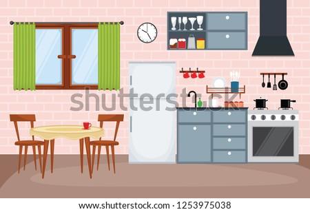 kitchen interior furniture