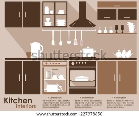 kitchen interior infographic
