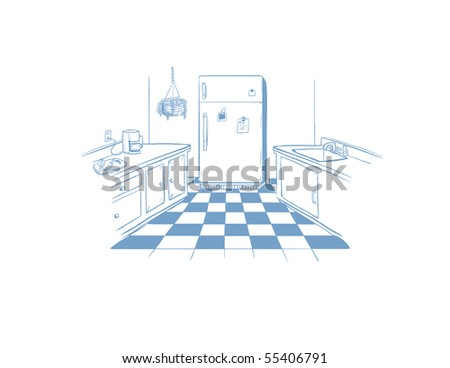 kitchen interior - vector