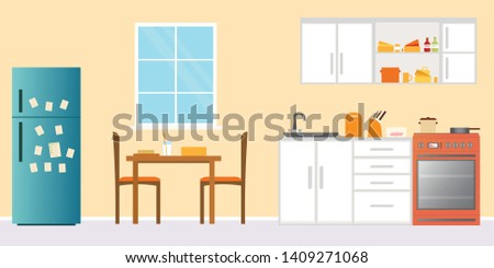 kitchen interior   with