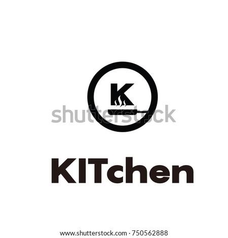 kitchen k  professional logo