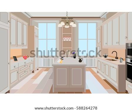 kitchen  kitchen interior with