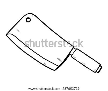 kitchen knife   cartoon vector