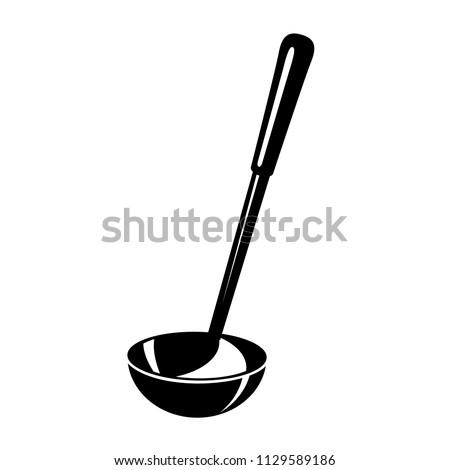 Kitchen ladle soup cook icon. Simple illustration of kitchen ladle soup cook vector icon for web