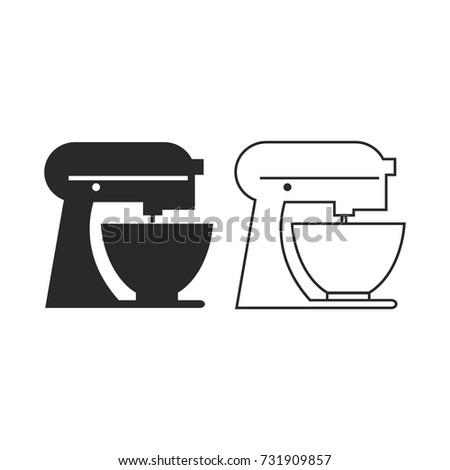 Kitchen Mixer Icon Vector. Outline Vector