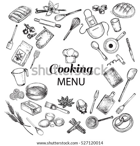 kitchen objects cooking menu