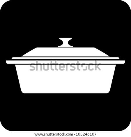 Kitchen pan - Vector icon isolated