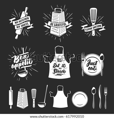 kitchen prints set quotes and