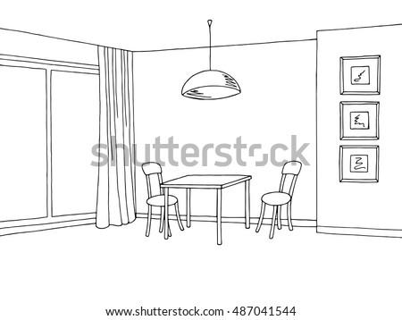 kitchen room interior graphic