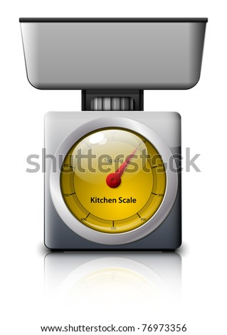 Kitchen Scale. Vector illustration - stock vector