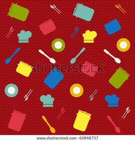 Kitchen seamless background