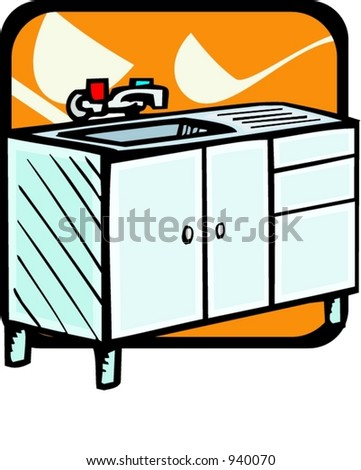 stock vector : Kitchen sink.Vector illustration