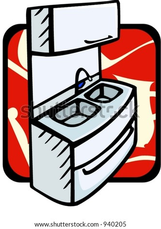 Kitchen sink.Vector illustration