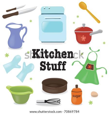 Kitchen stuff - stock vector