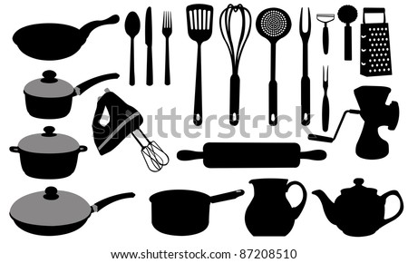 kitchen tools collage