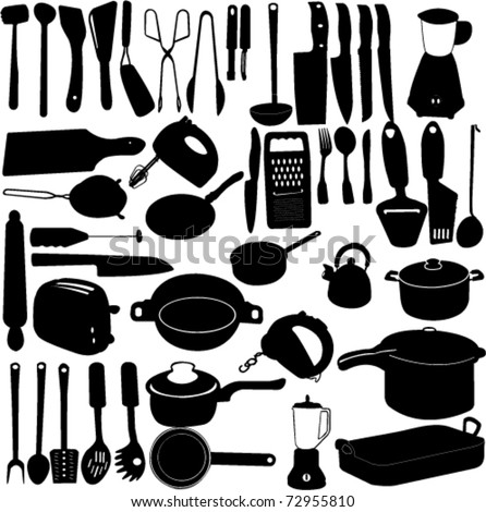 kitchen tools collection - vector