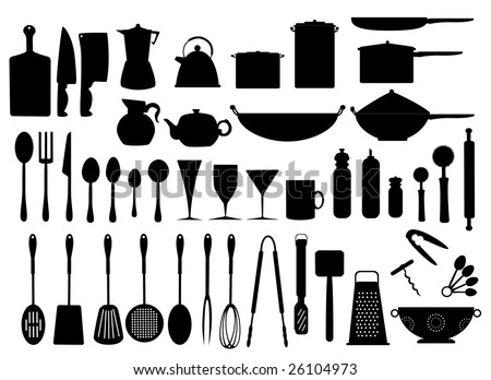 Kitchen Utensils Stock Vector 26104973 : Shutterstock