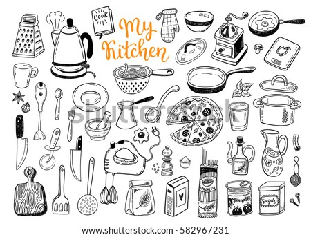 Kitchen Utensils Icons Download Free Vector Art Stock Graphics
