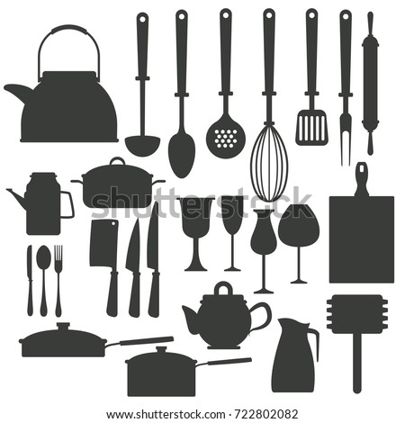 Kitchen utensils icons
