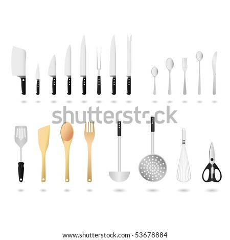 stock vector : Kitchen Utensils Set Vector