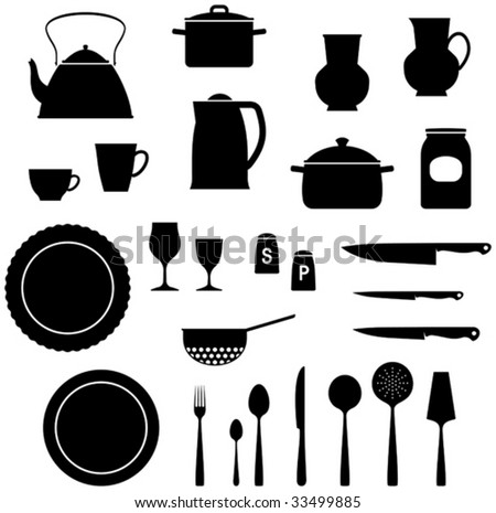 Kitchen Utensils Â?? Vector Illustration - 33499885 : Shutterstock