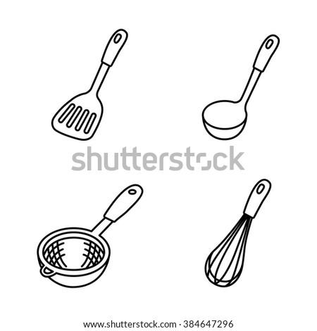 Kitchenware vector icons