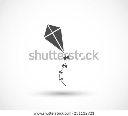 Kite icon vector ストックフォト ©