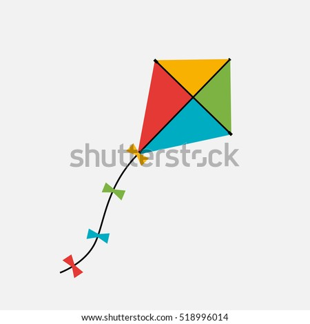 Kite  Icon. Vector Illustration EPS10 ストックフォト ©