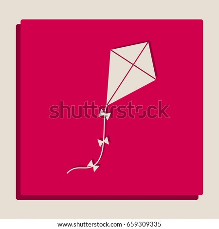 kite sign vector grayscale