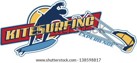 Kite surfing vector wallpaper