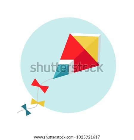 kite vector illustration flat