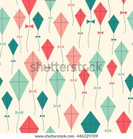 kites seamless pattern. flying...