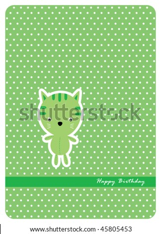 kitten baby shower greeting
