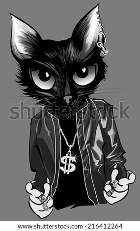 kitten rapper   vector
