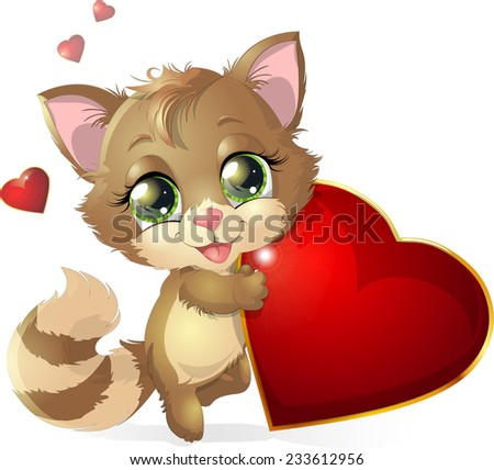 kitten which keeps the heart in