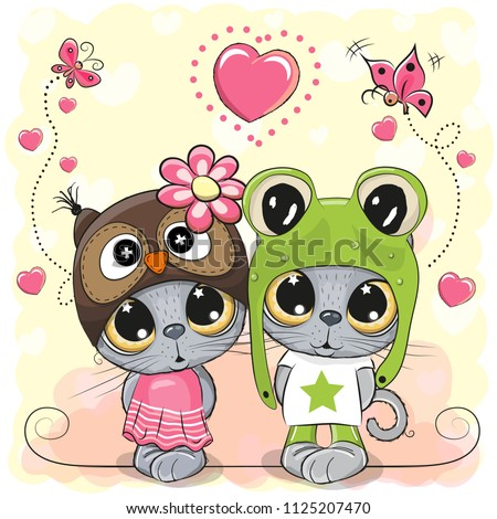 kittens boy and girl on a