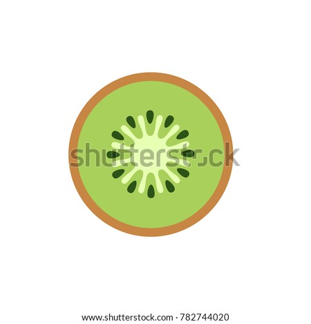 kiwi fruit logo icon vector