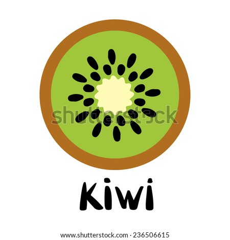 kiwi fruit slice closeup icon