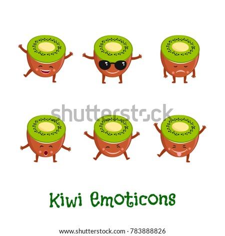 kiwi  fruit smiles cute