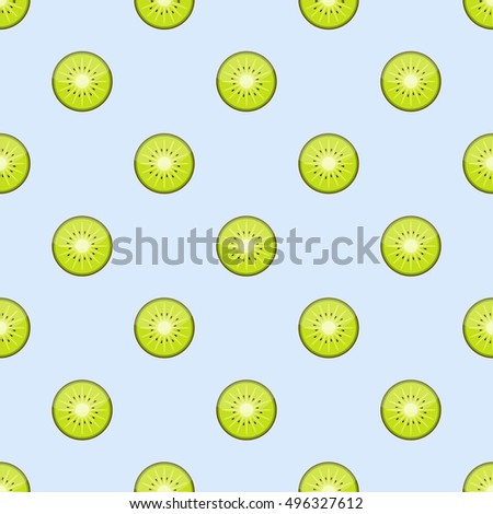 kiwi fruit vector  kiwi slices