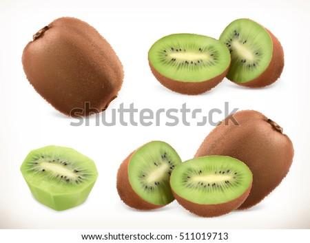 kiwi fruit whole and pieces
