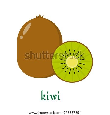 kiwi icon in flat style