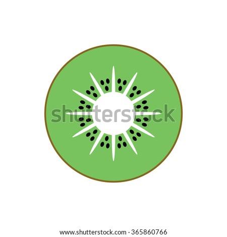 kiwi isolated vector icon kiwi