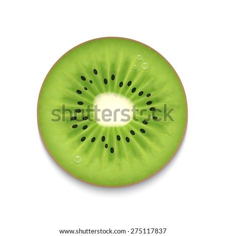 kiwi slice isolated on white