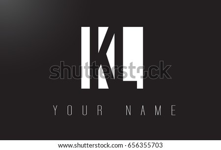KL Letter Logo With Black and White Letters Negative Space Design.
