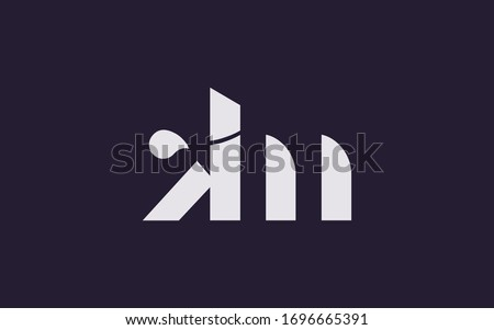 km or mk and k or m Letter Initial Logo Design, Vector Template  Stock fotó ©